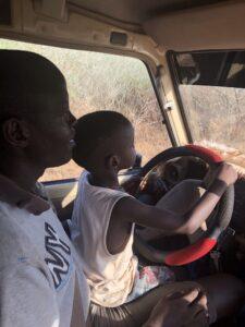 Helping Dad!