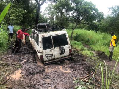 truck stuck in mud
